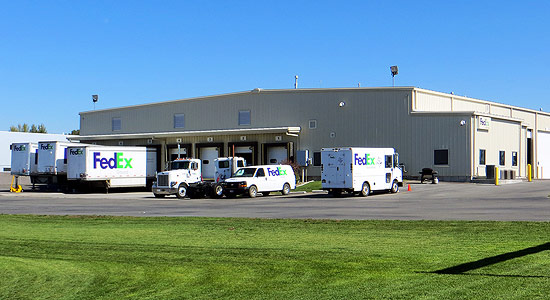 FedEx Ground's Distribution Center close-up at Crossroads Point