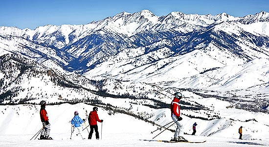 Baldy mountain skiers photo courtesy of City of Sun Valley