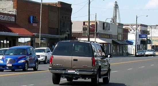 Town of Gooding main street photo courtesy of City-Data