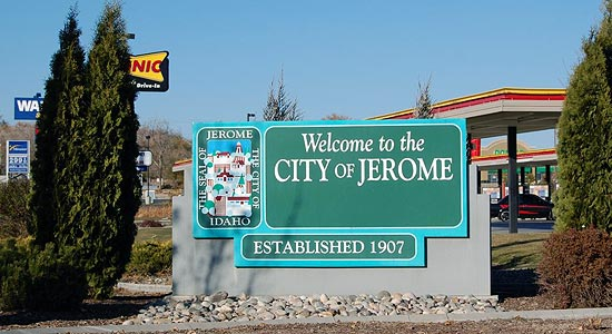 Welcome to the City of Jerome sign photo courtesy of KMVT