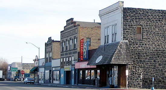 Town of Shoshone main street photo courtesy of City-Data