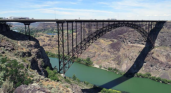 Perrine Bridge in Twin Falls County photo courtesy of Ritter Digital Consulting